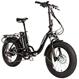 Monster 20″ LOW-e-- e-Bike Plegable - Suspensión Delantera - Motor 500W (Antracita)