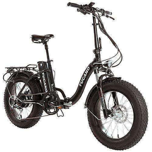 Monster 20″ LOW-e-e-- e-Bike Plegable - Suspensión Delantera - Motor 500W (Antracita)