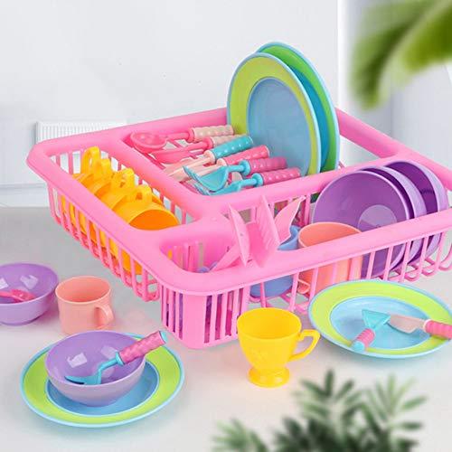 Juega Accesorios De Cocina, De Plástico Pretend Plato Conjunto De Juguete Juguete...