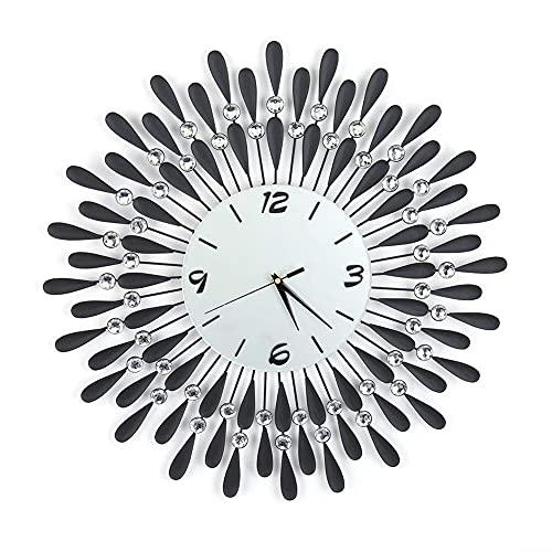 WSDDNXM Reloj de Pared Creativo, Reloj de Cielo Estrellado de Hierro de Diamantes de imitación, silencioso, sin tictac, con Pilas, para Sala de Estar, Dormitorio, decoración de Cocina, Regalo