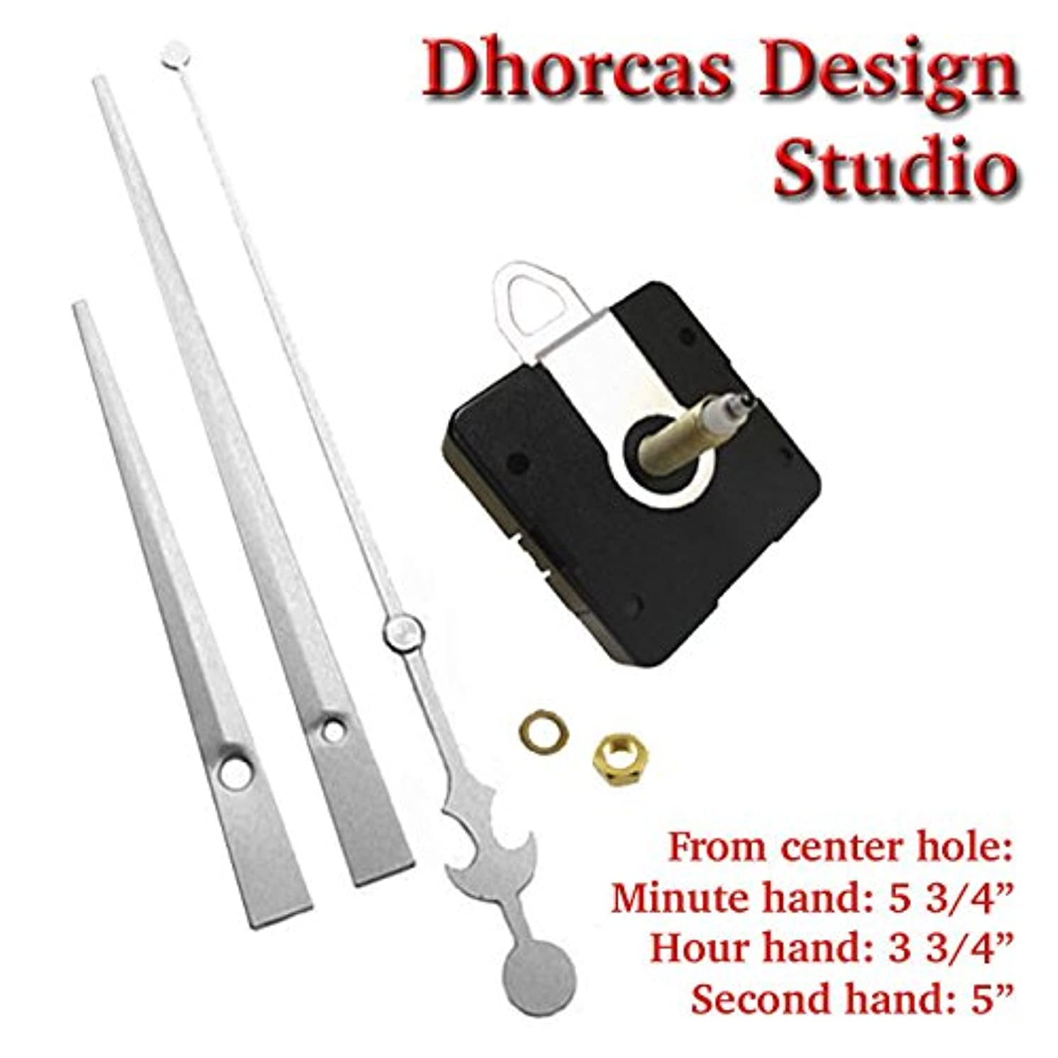 Dhorcas (#03S) Quartz Clock Movement Kit for Replacement, 3/4