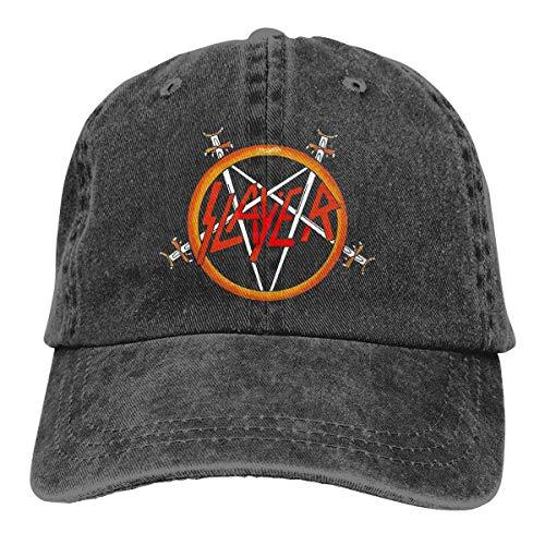 MaNeg Slayer Rock Band Adjustable Baseball Caps Denim Hats