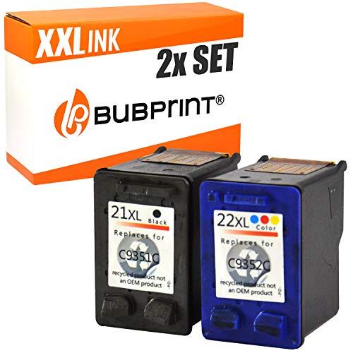 2 Bubprint Druckerpatronen kompatibel für HP 21 22 XL für DeskJet F370 F375 F380 F2180 F2280 F2200 F4180 OfficeJet 4315 J3680 PSC 1400 1410 1415 Multipack