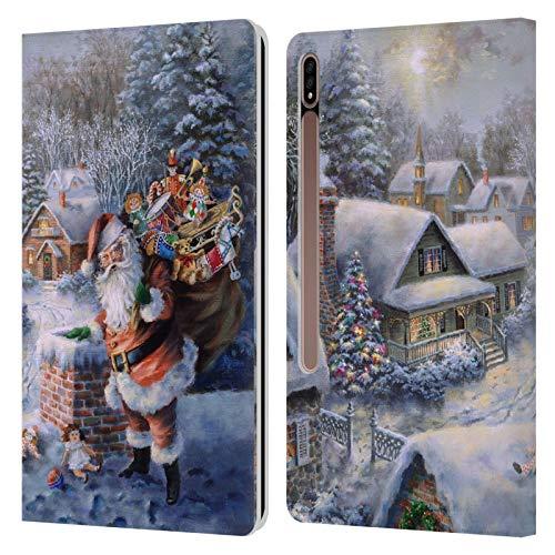 Head Case Designs Licenciado Oficialmente Christmas Mix Nicky Boehme trae alegría y Felicidad Winter Wonderland Carcasa de Cuero Tipo Libro Compatible con Galaxy Tab S7+ / Tab S7 Plus 5G