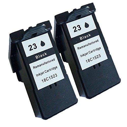 Karl Aiken - Cartuchos de tinta para impresora Lexmark 23 24 23XL 24XL para Lexmark Z1420 X4550 X3550 Z1410 X3530 X4530 (2 unidades), color negro