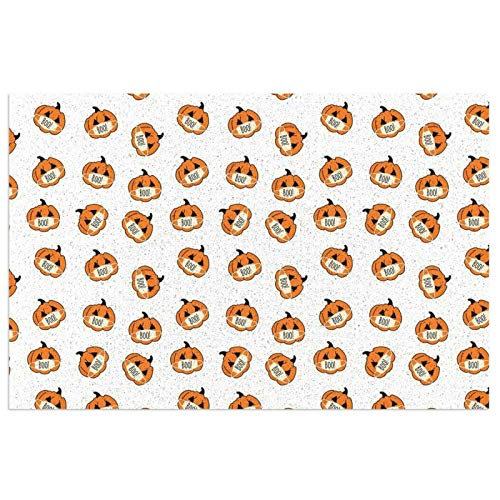 Corona - Alfombra de Halloween con diseño de calabazas de Halloween, alfombra de cocina, extra apoyo y grueso, impermeable, PVC, lavable, antideslizante