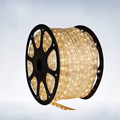 5 Meter Lichtschlauch - Leds in 5 Farbe - Für Innen und Außen - 24 Leds pro Meter, Lichtfarbe:Warmweiß
