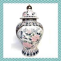 蓋付き 飾り壺 花瓶 陶芸品 壺 30センチ アンティーク コレクション アンティーク 骨董品