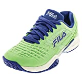 Fila Women's Axilus 2 Energized Tennis Shoe (Green Ash/Amparo Blue/White, 9.5)