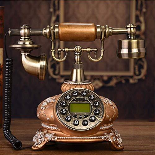 Retro telefoon, vast net hars/metaal/unieke keuze herhaling/oproepidentificatie/handsfree/geeft de datum en de tijd/traditionele bel-ringtoon