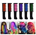 Disposable Hair Chalk Comb,Professional Temporary Instant Hair Color Highlights Streaks Hair Coloring Dye Comb, Instant Hair Comb for Halloween Christmas Party