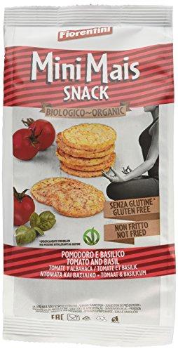 Fiorentini - Mini gallette di mais al pomodoro e basilico da agricoltura biologica - 16 confezioni da 50 Grammi, Senza glutine