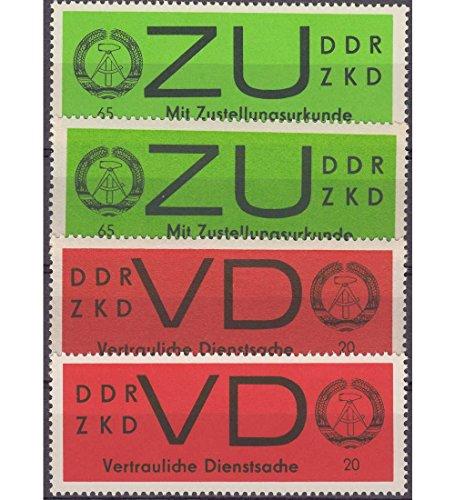 Goldhahn DDR Dienstmarken D Nr. 3X+y und E Nr. 2X+y postfrisch ** Briefmarken für Sammler