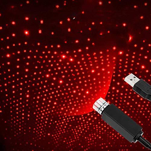 Proyector de estrella USB Luz de noche Luces de techo de coche ajustables Decoraciones de luz de noche USB portátil para el interior del coche / Dormitorio / Techo / Fiesta / Paredes