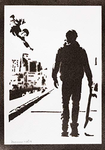 Poster Tony Hawk's Pro Skater Grafiti Hecho a Mano - Handmade Street Art - Artwork