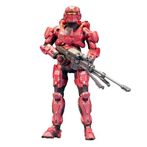 Halo 4 Series 1 Spartan Warrior Action Figure (Red)