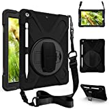 zenrich Defender Series Case for iPad 7th Generation 10.2 2019 Case A2197/A2198/A2199/A2200, PRO 50 Pack - Black