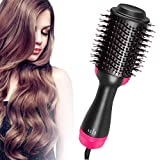 One Step Hair Dryer and Volumizer, RVB Beauty Hot Air Brush, Blower Hair Dryer Salon Hot Air Paddle Styling Comb Negative Ion Generator Hair Straightener Curler Comb