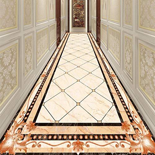 Aangepaste muurschildering 3D marmer vloer sticker woonkamer hotel corridor PVC waterdichte lijm behang 3D vloertegels 300cm(L) x210cm(W)