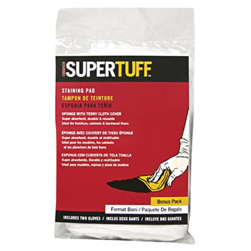 Trimaco SuperTuff Staining Pad Sponge with free gloves