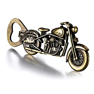 UNIQUE GIFTS FOR MEN: Looking for a Fathers day gifts from daughter wife who is Harley Enthusiast?You won't like to miss this motorcycle gifts bottle opener, unique but useful. VINTAGE BAR GIFTS & BOTTLE OPENER: Classic nostalgic design is definitely...