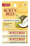 Burt's Bees 100% Natural Moisturizing Lip Balm, Coconut & Pear, 2...