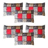 Amrange Cotton 6 Piece Set Designer Pillow Covers,Size-17'' x 27'