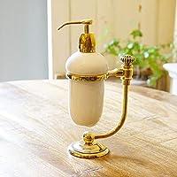 イタリア製 ソープディスペンサー おしゃれ 陶器 イタリアンクラシック 真鍮・ブラス製