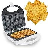 CHENNA Chaffle Quadrato Belga, Ferro da Stiro for Singoli Waffle, Piastre di Rivestimento Antiaderente, luci indicatori LED, Facili da Pulire