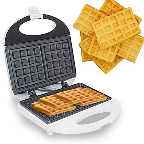 YFGQBCP Fabricante de waffle cuadrado con placas extraíbles Máquina de desayuno Máquina de desayuno Máquina de cocina Indicador LED Mini Cocinero Electrodomésticos Portátil Pequeño hogar Cocina de coc