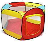 Kiddey Ball Pit Play Tent for Kids - 6-Sided Ball Pit for Kids Toddlers and Baby - Fill with Plastic Balls (Balls Not Included) or Use As an Indoor / Outdoor Play Tent Great Gift Idea