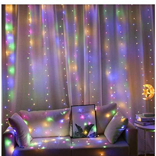 AYRSJCL 3 * 3m LED Fil de cuivre Rideau Guirlande Lumineuse Guirlande USB de lumières de Mariage Décoration de fête d'anniversaire de bébé Douche décorations. Q