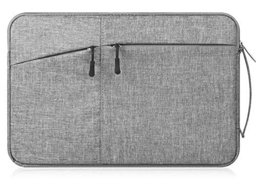Canvas-Laptop-/Tablet-Schutzhülle für Samsung Chromebook Plus / 12,3 Zoll Chromebook Pro/Galaxy Book 12/11,6 Zoll Chromebook 3 / XIDU PhilBook/Google Pixel Slate/Pixelbook grau dunkelgrau M
