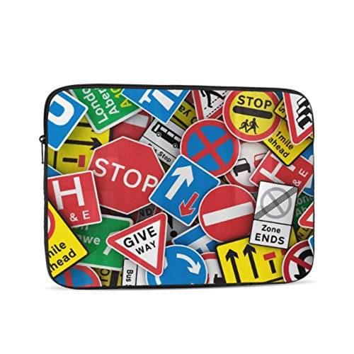 Macbookpro Case Chaotic Collection Traffic Signs United Kingdom Mac Air Cover Multi-Color & Size Choices 10/12/13/15/17 Inch Computer Tablet Briefcase Carrying Bag