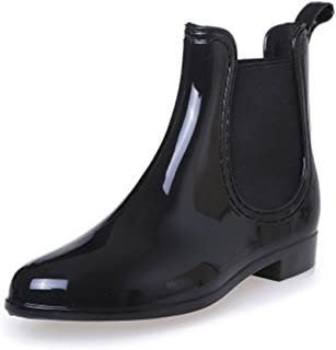 SAGUARO Womens Wellington Ankle Boots Ladies Wellies Rain Boots Chelsea Shoes