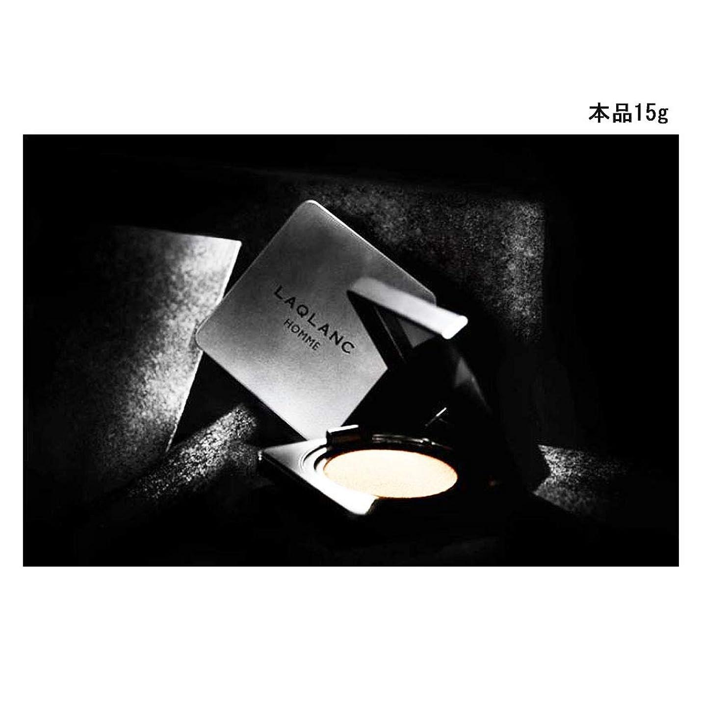 オーブンモットー置き場(Laqlanc)大人気 10秒完成 ナチュラル 肌色アップ 紫外線遮断 ホワイトニング 男性 エアクッション 15g [海外配送品] [並行輸入品]