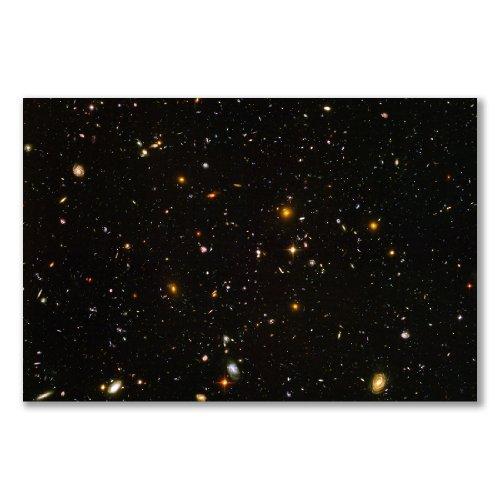 Poster art print: HUBBLE ULTRA DEEP FIELD SPACE TELESCOPE (A3 maxi - 28.8x43.2cm / 11.3x17in, semi-gloss satin paper, gift artwork home decor decorative) by OpenPrint