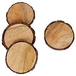 wood slice art ideas ~ coasters