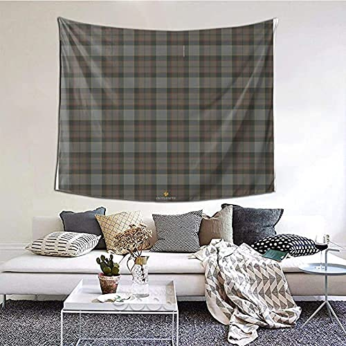 Outlander Fraser Tartan Tapestry Wall Hanging Wall Decor Home Decor Beach Blanket Indian for Bedroom Dorm Home 60x51 Inch