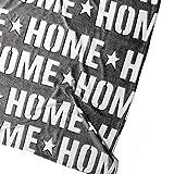 hibuy Coperta in pile Home (Sweet Home) – con effetto 3D – bianco, grigio – 160 x 130 cm