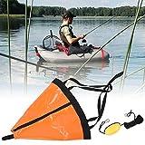 Nannday Ancora per Barca, Ancora per Barca da Pesca in PVC, Set Galleggiante per Ancora per Barche, Kayak per gommone da Pesca per Yacht in Gomma(Orange)