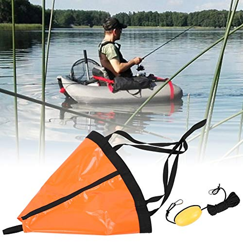 Nannday Ancora per Barca Ancora per Barca da Pesca in PVC Set Galleggiante per Ancora per Barche Kayak per gommone da Pesca per Yacht in Gomma(Orange)