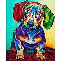 クロスステッチ 大人のためのクロスステッチキット 着色された子犬 40x50cm 11CT番号別刺繍キット手作りキットパンチ針刺繍DIY初心者向け手作りスターターキット