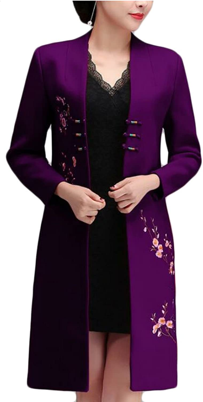 GAGA Women's Classic Plate Buckle Plus Size Pea Coat Overcoat