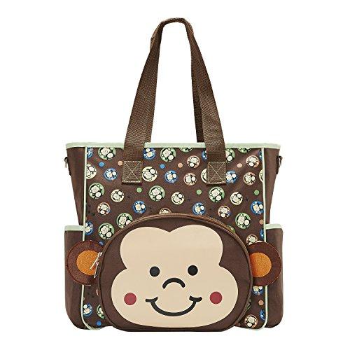 SoHo Franky Monkey Diaper Tote Bag 10Pc Travel Set