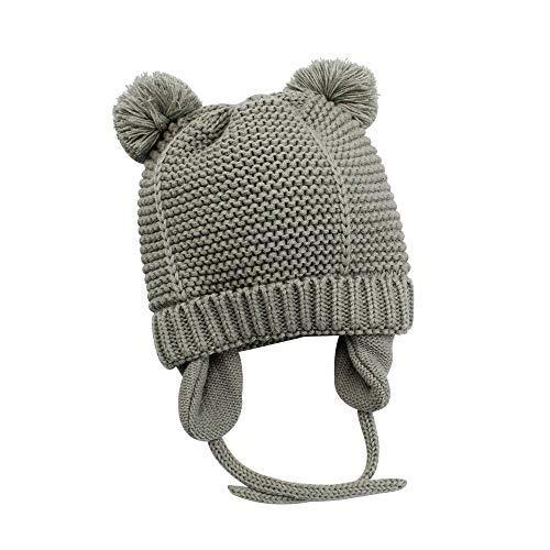 5b2a83075e9 XIAOHAWANG Baby Hat Cute Bear Toddler Earflap Beanie Warm for Fall Winter