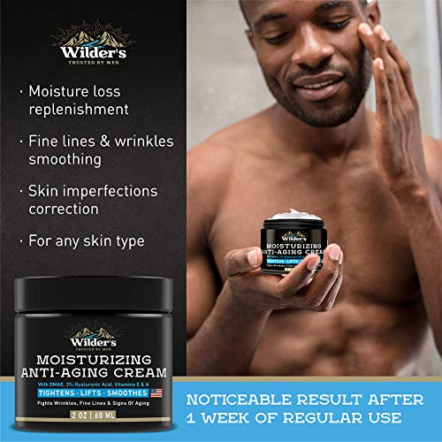 51OfGV3ExrL - Men's Anti Aging Face Cream Moisturizer - Premium Skin Care for Men with Collagen, Retinol, Hyaluronic Acid - Made in USA - Fast Anti-Age Effect Day & Night - Wrinkle Free Facial Men Moisturizer 2Oz