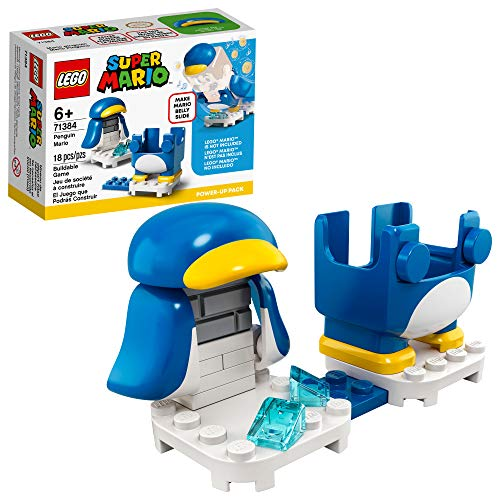 LEGO Super Mario Penguin Mario Power-Up Pack 71384 Building Kit; Collectible Gift Toy for Creative Kids, New 2021 (18 Pieces)
