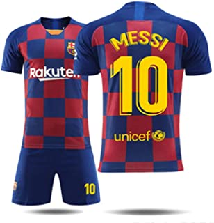 4af546499d51a5 SDQ Barcelona Messi #10Home 2019/20 Calcio Maglia E Pantaloncini  Collocazione Calze Bambini E