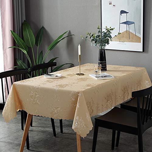 XTUK Mantel de Plata Mantel de plástico Limpie la Cubierta de la Mesa Banquete de Boda Paño Rectángulo Decoración de la Mesa A Prueba de Aceite Impermeable Resistente Las Manchas 135 * 250cm